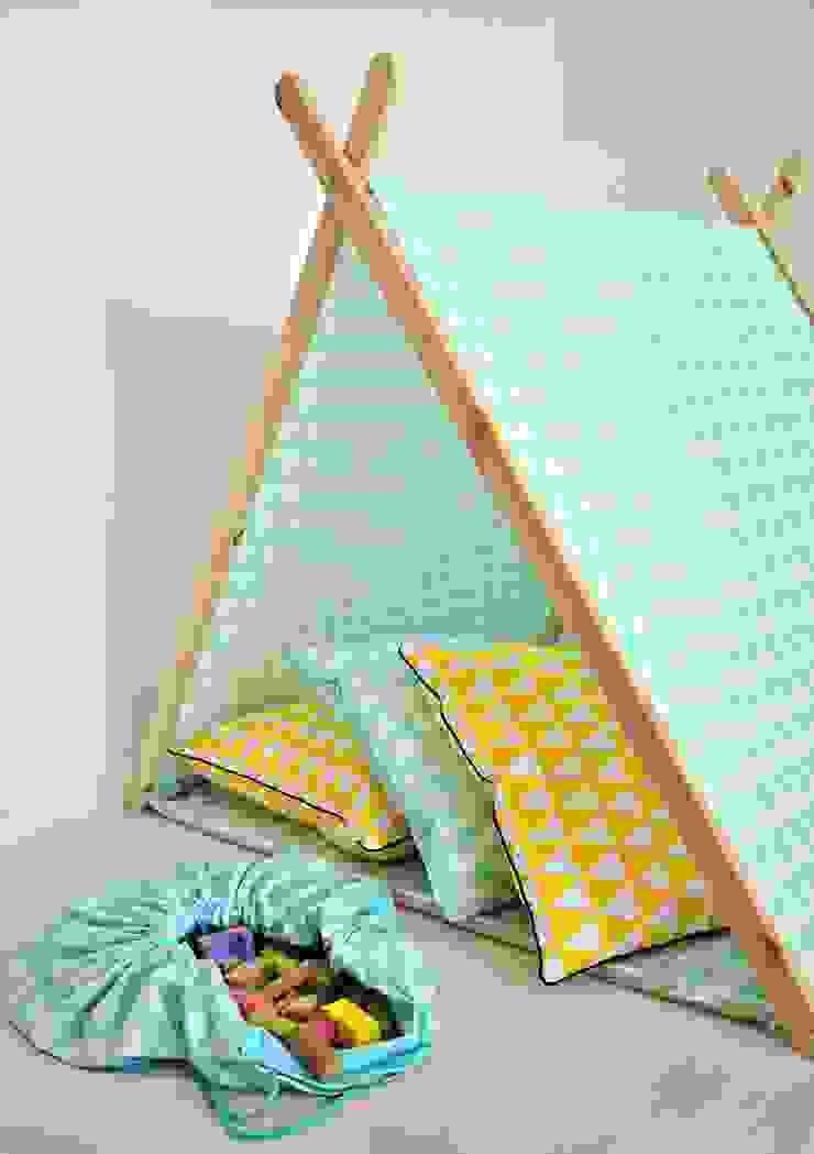 Domek namiot tipi miętowe trójkąty od Lucky Kids Nowoczesny