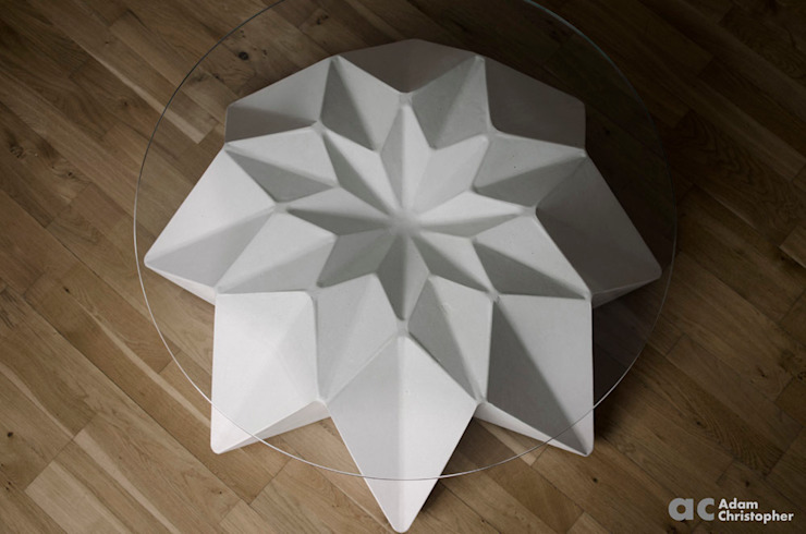 Kronen Bowl in white Adam Christopher Design Garden Furniture Concrete White