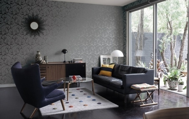 Modern living room by 4 Duvar İthal Duvar Kağıtları & Parke Modern