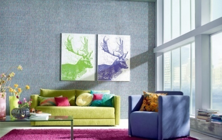 Salas de estar  por 4 Duvar İthal Duvar Kağıtları & Parke, Moderno