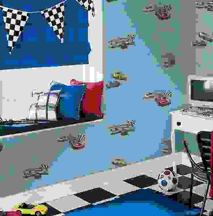 Uygulamalar Modern Çocuk Odası 4 Duvar İthal Duvar Kağıtları & Parke Modern