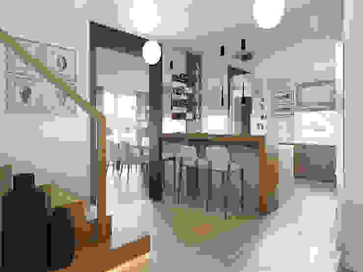 Dom w Brzegu Dolnym Nowoczesna kuchnia od Finchstudio Nowoczesny