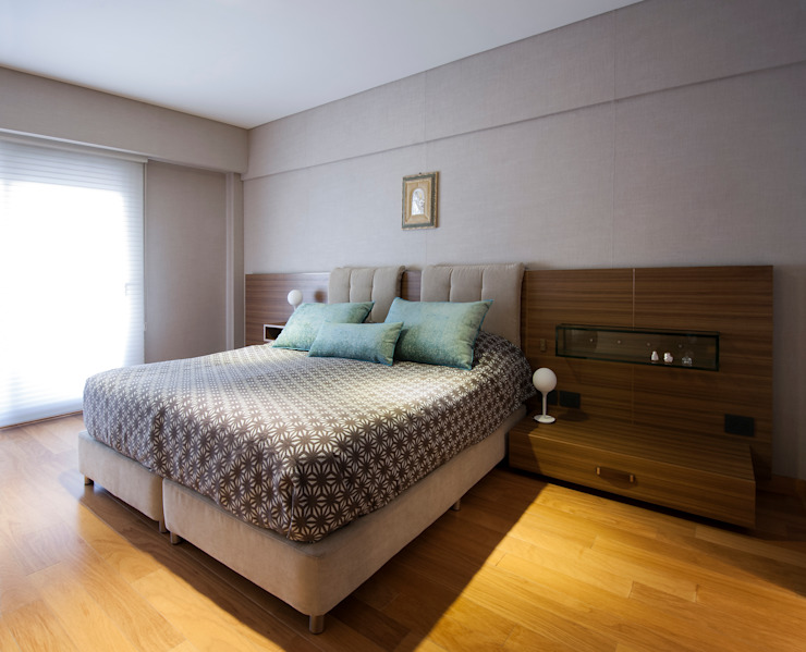 Decoración en Caballito: Dormitorios de estilo  por Estudio Sespede Arquitectos