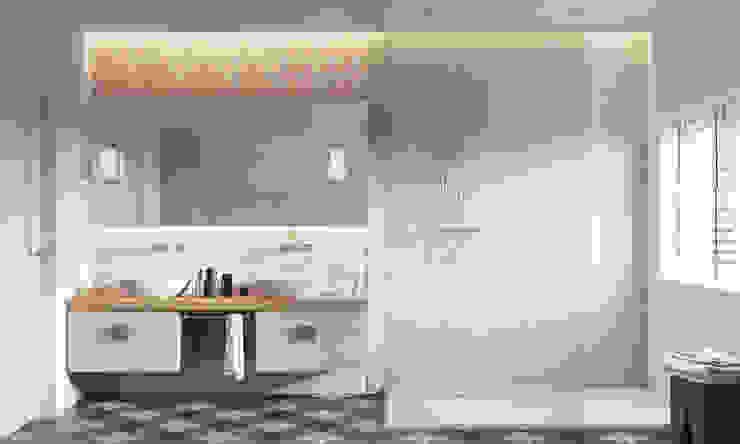 Dom w Brzegu Dolnym Nowoczesna łazienka od Finchstudio Nowoczesny