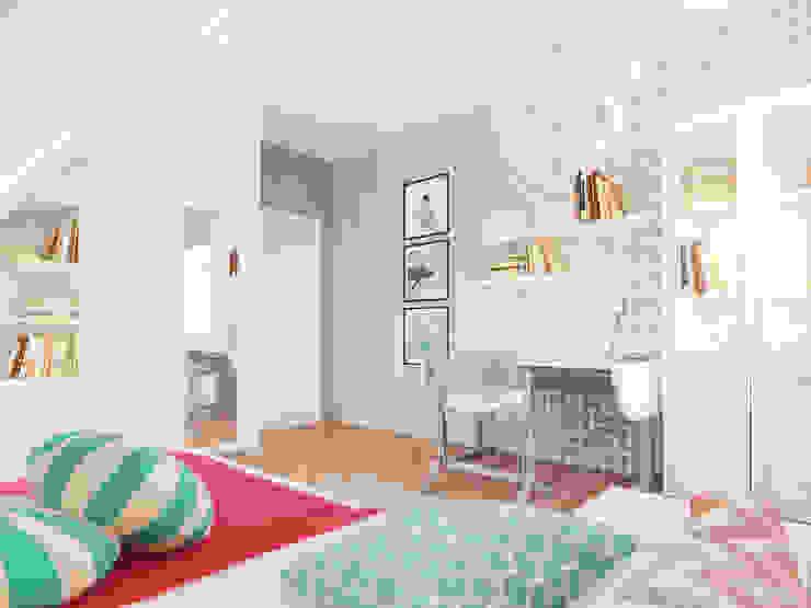Dom w Holandii Nowoczesny pokój dziecięcy od Finchstudio Nowoczesny