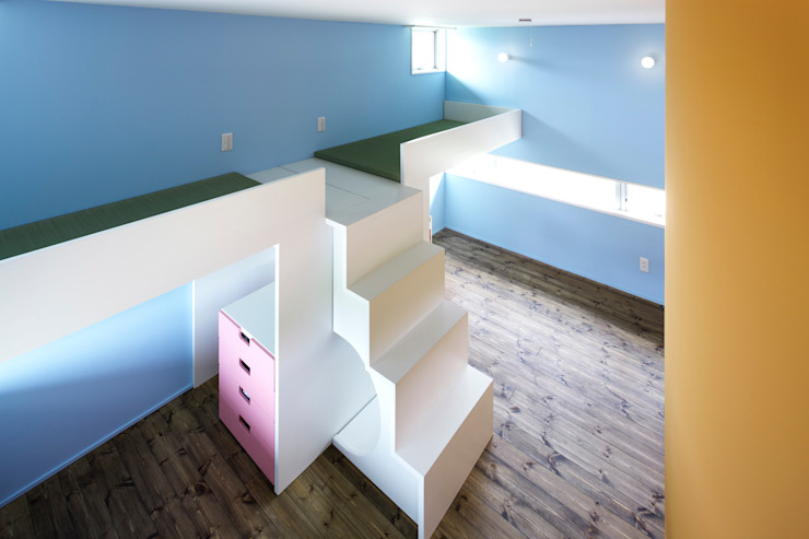 後台の家 モダンデザインの 子供部屋 の 久保田章敬建築研究所 モダン