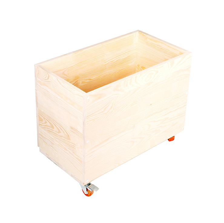 Drewniana skrzynia na zabawki <q>Lekko śpiący lis</q> od NOBOBOBO Skandynawski