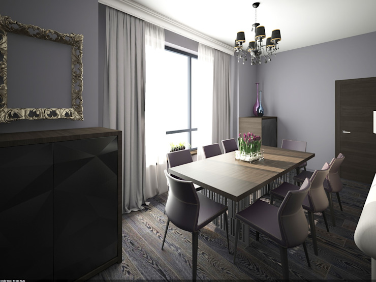 Фиолетовые нюансы: Гостиная в . Автор – PichuginaDesign