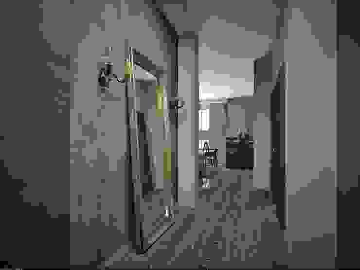 Фиолетовые нюансы Коридор, прихожая и лестница в эклектичном стиле от PichuginaDesign Эклектичный