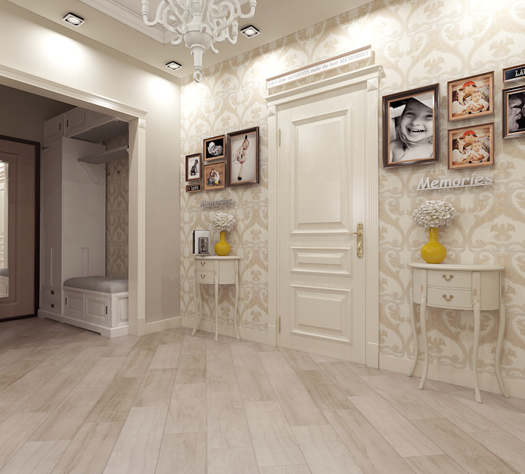 квартира на ул. Одесская Коридор, прихожая и лестница в классическом стиле от ООО 'Студио-ТА' Классический