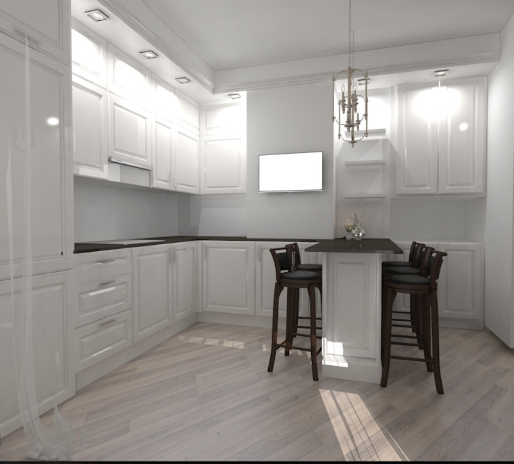 квартира на ул. Одесская Кухня в классическом стиле от ООО 'Студио-ТА' Классический