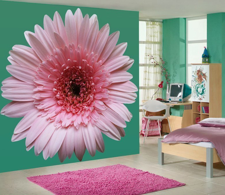 Flower Wall Murals Banner Buzz Interior landscaping