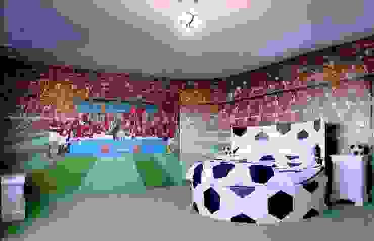 Football Wall Murals de Banner Buzz Moderno
