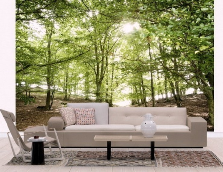 Forest Wall Murals Banner Buzz Interior landscaping