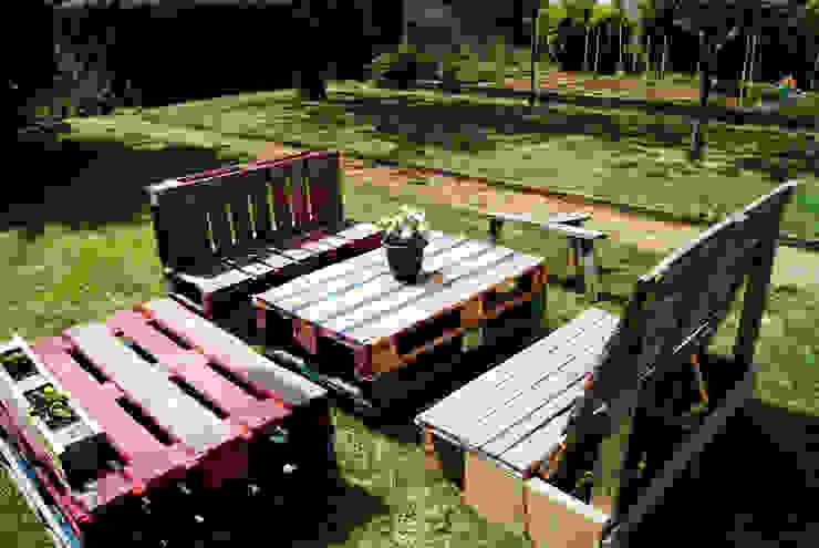 Mobilier de jardin en palettes recyclées 4 par creationsecopalettes Éclectique
