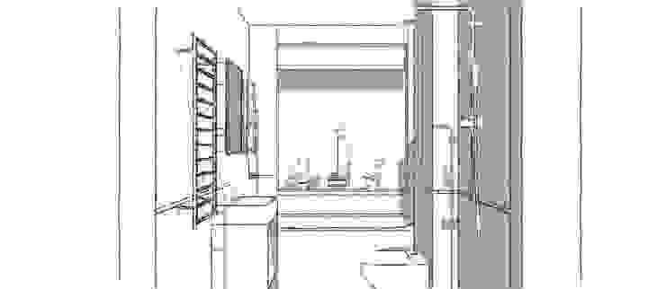 Sketches of the Bathroom Design Blue Cottini Modern bathroom