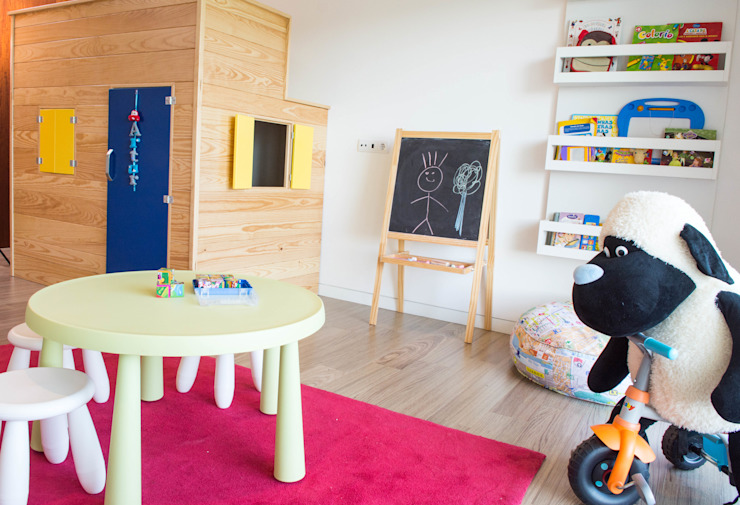 Dormitorios infantiles de estilo  por Ângela Pinheiro Home Design , Escandinavo Madera Acabado en madera