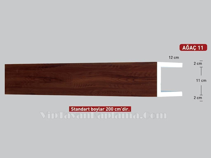 Model 11 Ahşap Desenli Eps Tavan Profili Vip Tavan Kaplama Klasik