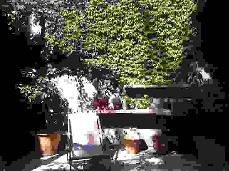 PATIOS Y TERRAZAS Jardines de estilo rústico de Asilvestrada Rústico