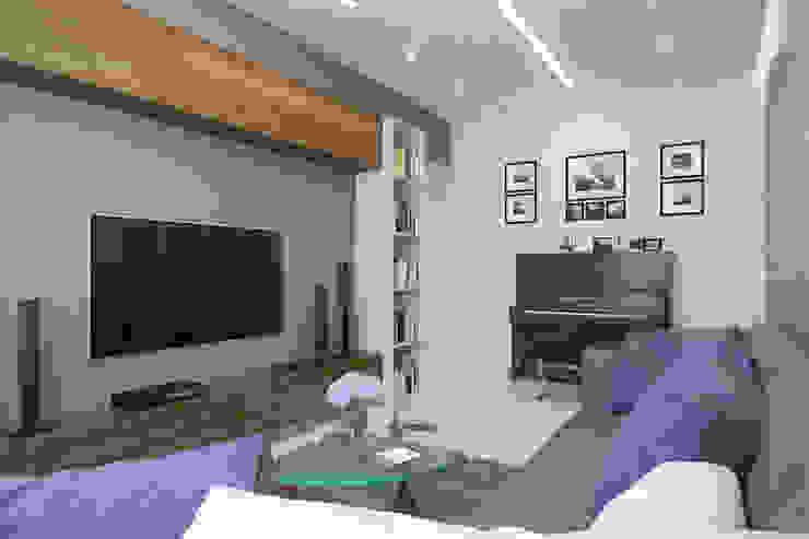 2-х комнатная квартира в Москве Гостиная в стиле минимализм от Rustem Urazmetov Минимализм