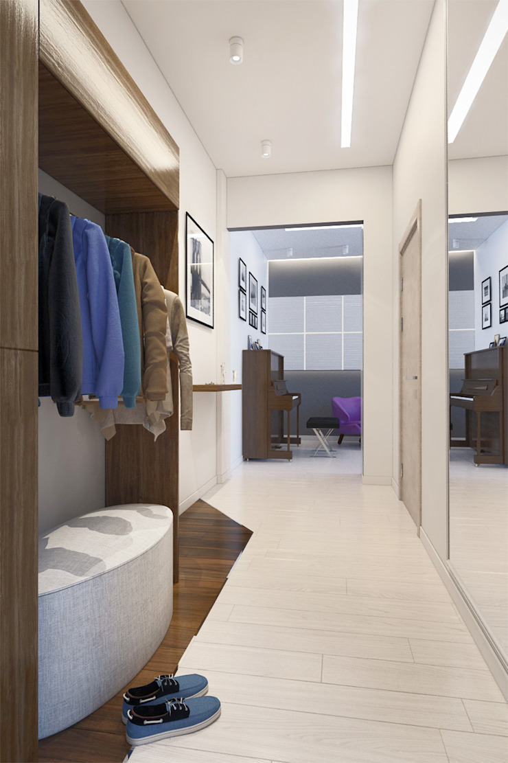2-х комнатная квартира в Москве Коридор, прихожая и лестница в стиле минимализм от Rustem Urazmetov Минимализм