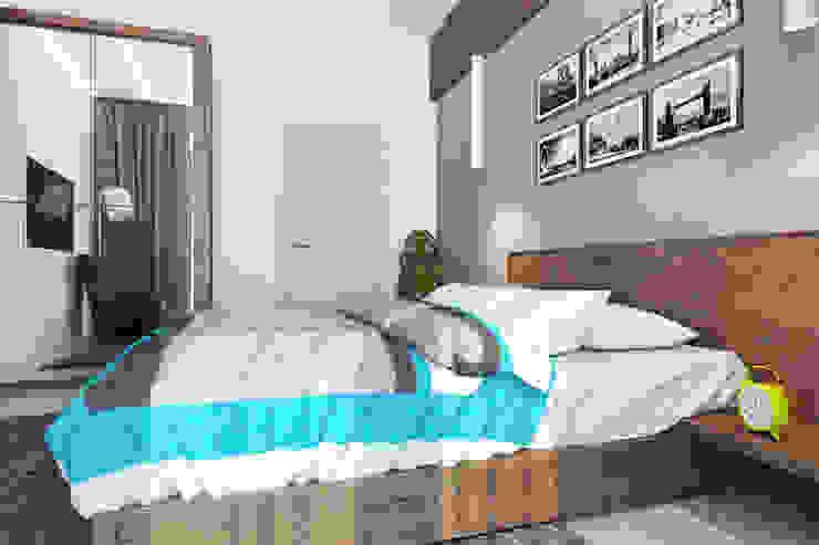 2-х комнатная квартира в Москве Спальня в стиле минимализм от Rustem Urazmetov Минимализм