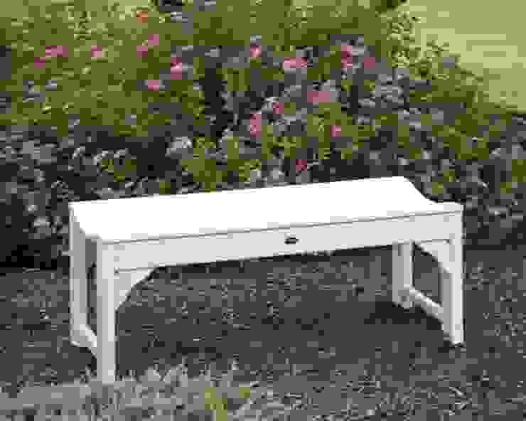 CASA BRUNO TRADITIONAL Banco de Jardín sin respaldo, 122 cm, HDPE poly-madera, blanco Casa Bruno American Home Decor JardinesMuebles