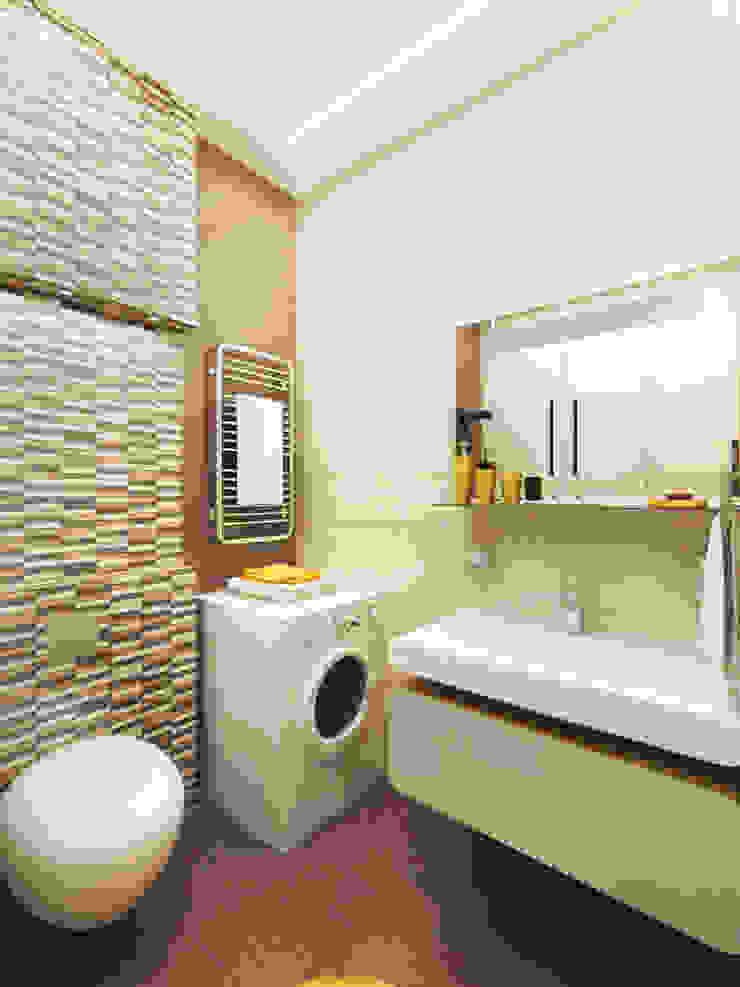 2-х комнатная квартира в Подмосковье Ванная комната в стиле минимализм от Rustem Urazmetov Минимализм