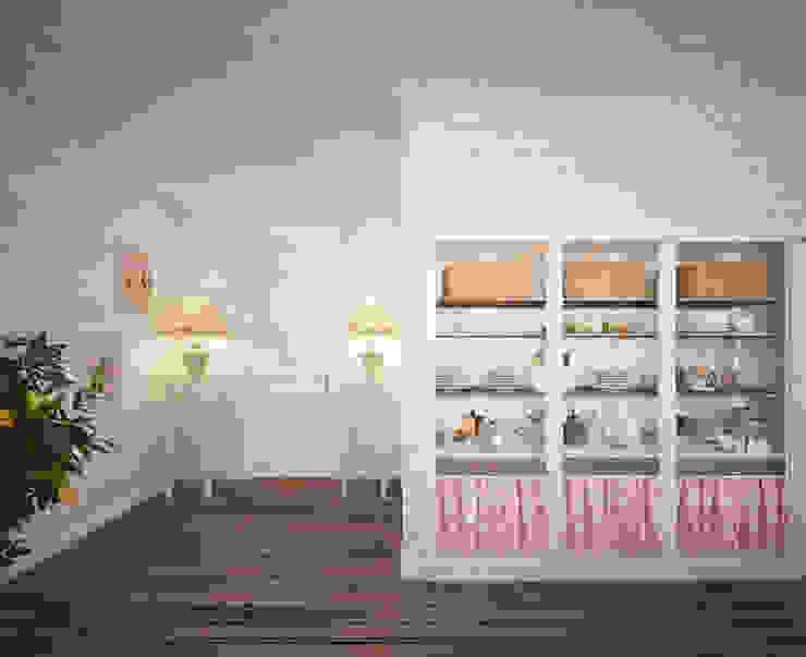 Уютный дом в стиле прованс Столовая комната в средиземноморском стиле от Дизайн-бюро Анны Шаркуновой 'East-West' Средиземноморский
