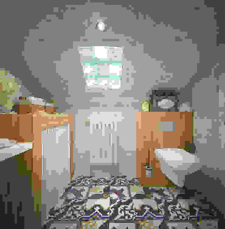 Уютный дом в стиле прованс Ванная в средиземноморском стиле от Дизайн-бюро Анны Шаркуновой 'East-West' Средиземноморский