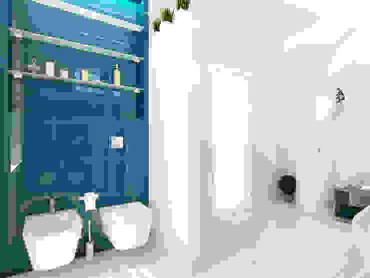 Дизайн коттеджа в Подмосковье Ванная комната в стиле минимализм от Rustem Urazmetov Минимализм