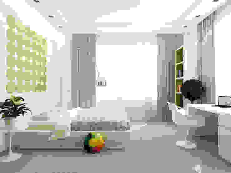 Дизайн коттеджа в Подмосковье Детская комнатa в стиле минимализм от Rustem Urazmetov Минимализм