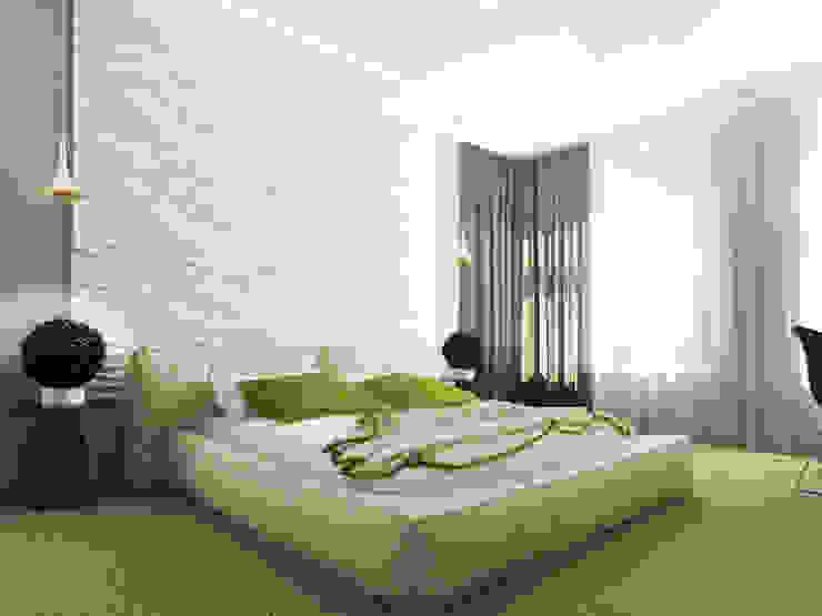 Дизайн коттеджа в Подмосковье Спальня в стиле минимализм от Rustem Urazmetov Минимализм