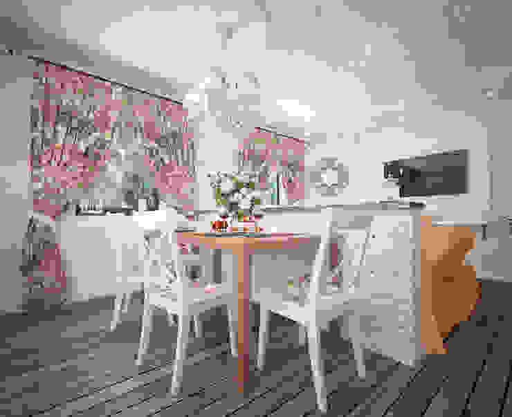Уютный дом в стиле прованс Кухня в средиземноморском стиле от Дизайн-бюро Анны Шаркуновой 'East-West' Средиземноморский