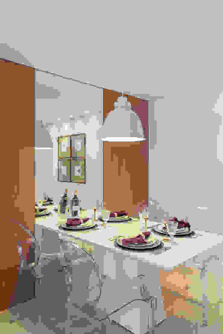 APARTAMENTO Salas de jantar minimalistas por MARCY RICCIARDI ARQUITETURA & INTERIORES Minimalista