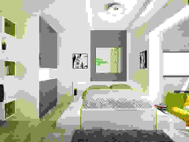 2-х комнатная квартира в Подмосковье Спальня в стиле минимализм от Rustem Urazmetov Минимализм