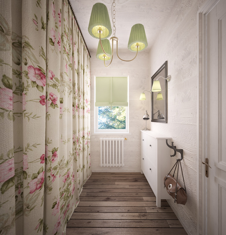 Уютный дом в стиле прованс Коридор, прихожая и лестница в средиземноморском стиле от Дизайн-бюро Анны Шаркуновой 'East-West' Средиземноморский