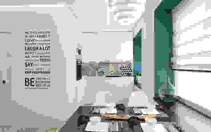 Квартира-студия в Москве Кухня в стиле минимализм от Rustem Urazmetov Минимализм