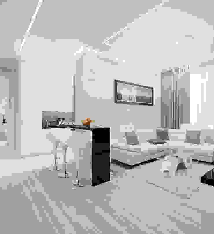 Salon minimaliste par Rustem Urazmetov Minimaliste