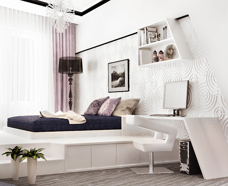 Scandinavian style bedroom by Rustem Urazmetov Scandinavian