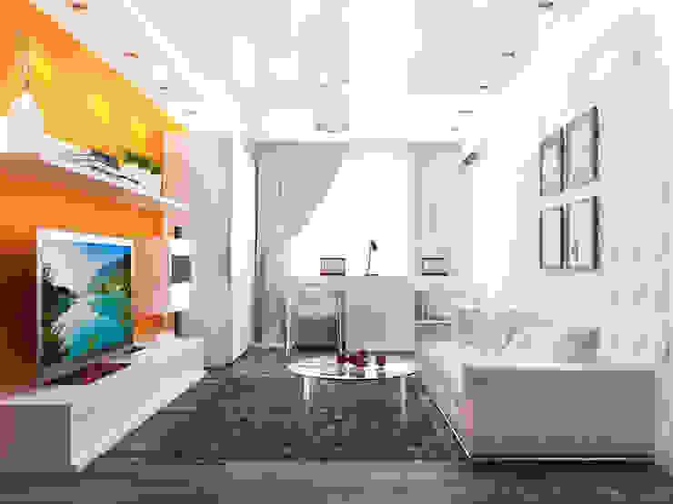 Дизайн гостиной с камином Гостиная в стиле минимализм от Rustem Urazmetov Минимализм