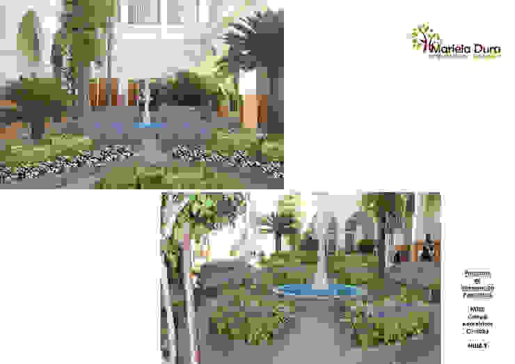 HOJA 1: PATIO I - FUENTE Jardines clásicos de MARIELA DURA ARQUITECTURA PAISAJISTA Clásico