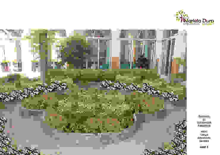 HOJA 2: PATIO II – CANTERO CENTRAL FLOR Jardines clásicos de MARIELA DURA ARQUITECTURA PAISAJISTA Clásico
