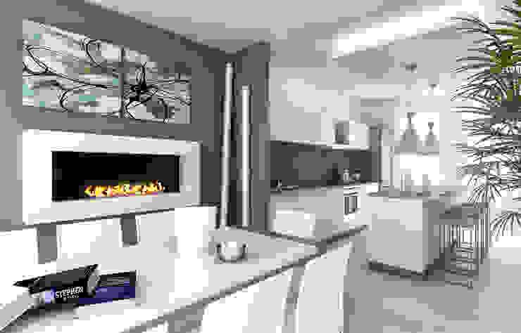 Duplex Soggiorno moderno di Architetto Luigia Pace Moderno Legno Effetto legno