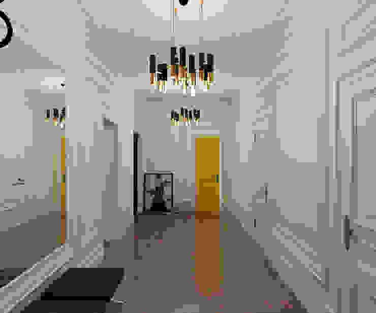 Pasillos, vestíbulos y escaleras de estilo ecléctico de Студия Антона Сухарева 'SUKHAREVDESIGN' Ecléctico