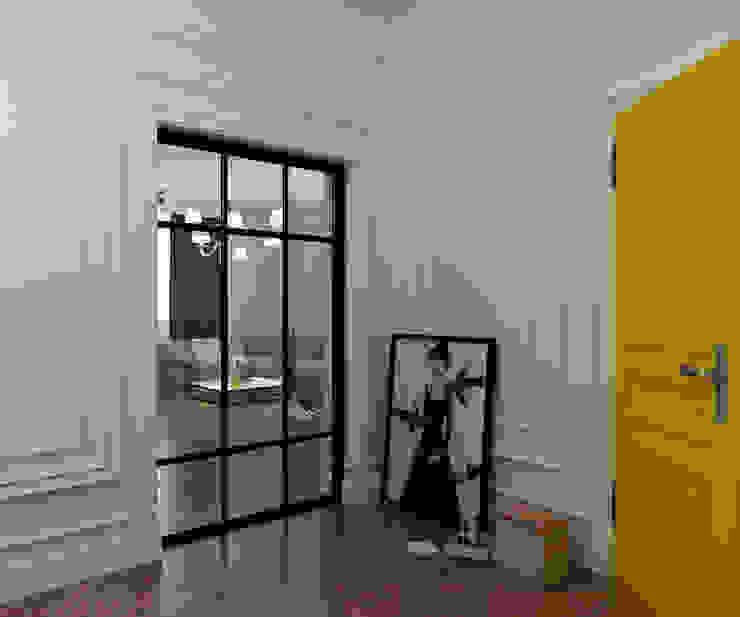 Yellow accents: Коридор и прихожая в . Автор – Студия Антона Сухарева 'SUKHAREVDESIGN'