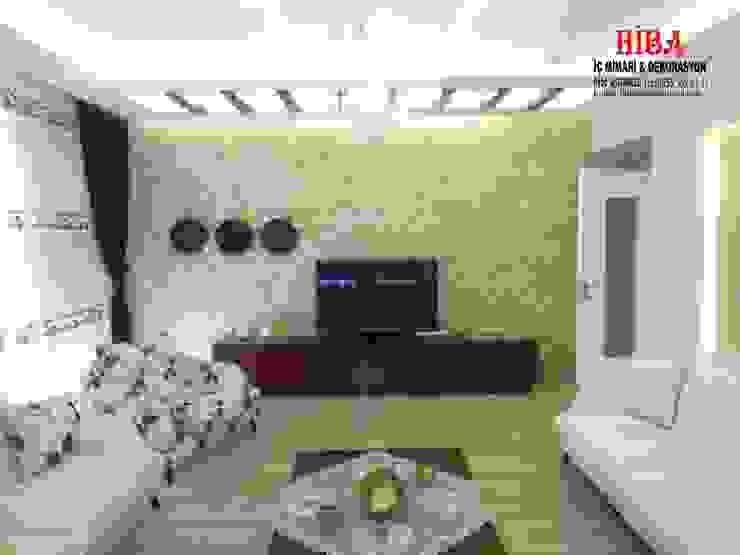 Salones de estilo moderno de Hiba iç mimarik Moderno