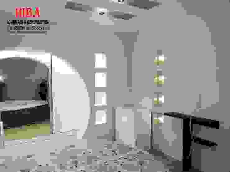 Dormitorios de estilo moderno de Hiba iç mimarik Moderno