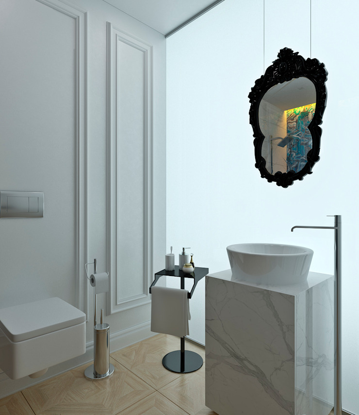 Yellow Accents Bathroom Ванная комната в эклектичном стиле от Студия Антона Сухарева 'SUKHAREVDESIGN' Эклектичный