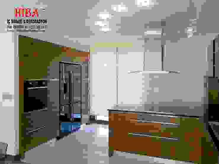 Dr. Mustafa Ödemiş Villası Modern Mutfak Hiba iç mimarik Modern